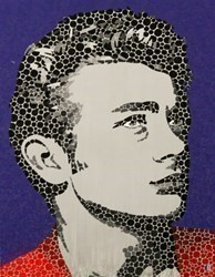 James Dean II by Paul Normansell - High Gloss Enamel Paint on Aluminium sized 20x26 inches. Available from Whitewall Galleries